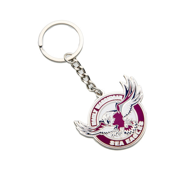 Manly Sea Eagles Keyring - Metal Logo