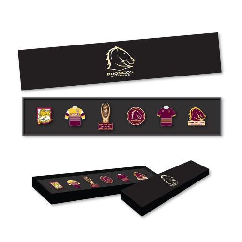 Brisbane Broncos Evolution Pin Set
