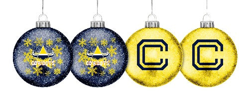 North Queensland Cowboys Glitter Baubles (4pk)