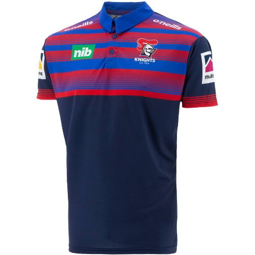 Newcastle Knights 2021 Mens Players Media Polo