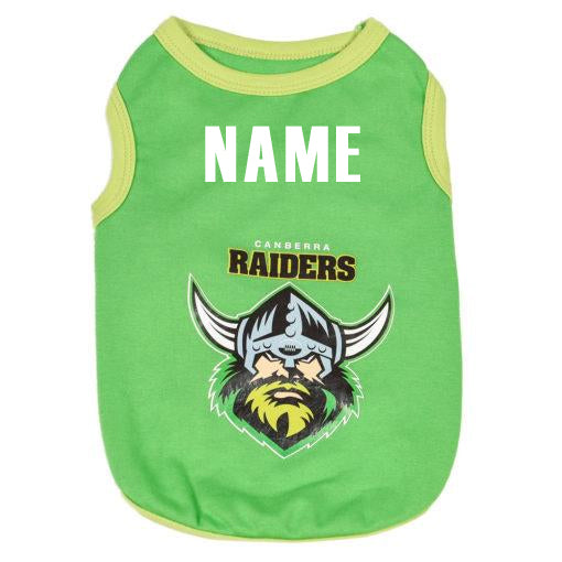 Canberra Raiders Dog Shirt