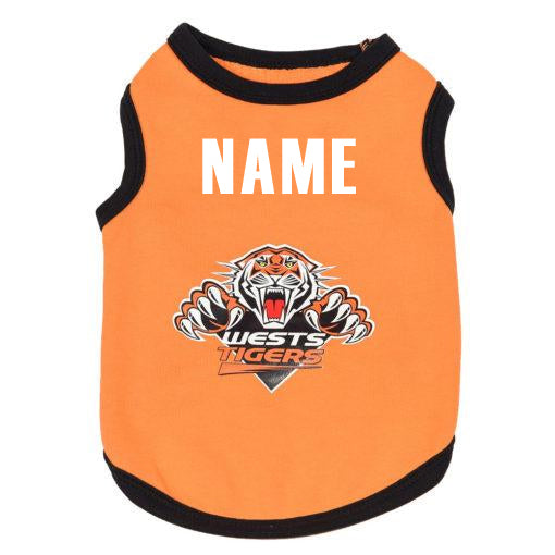 Wests Tigers Dog Shirt