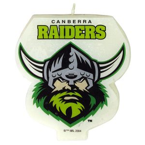Canberra Raiders Logo Candle
