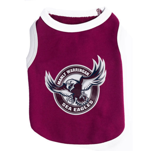 Manly Sea Eagles Dog Shirt