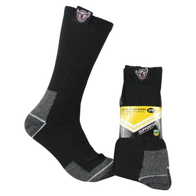 Manly Sea Eagles Work Socks (2pk)