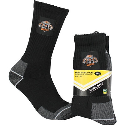 Wests Tigers Work Socks (2pk)