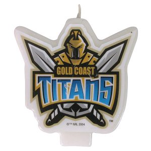 Gold Coast Titans Logo Candle