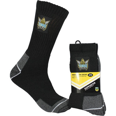 Gold Coast Titans Work Socks (2pk)