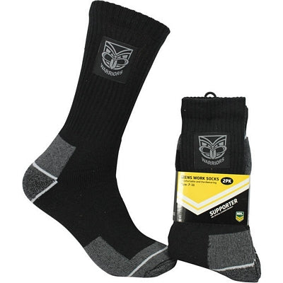 NZ Warriors Work Socks (2pk)
