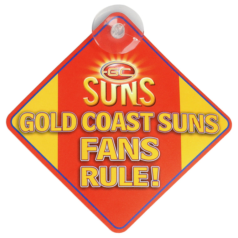 Gold Coast Suns Car Supporter Sign