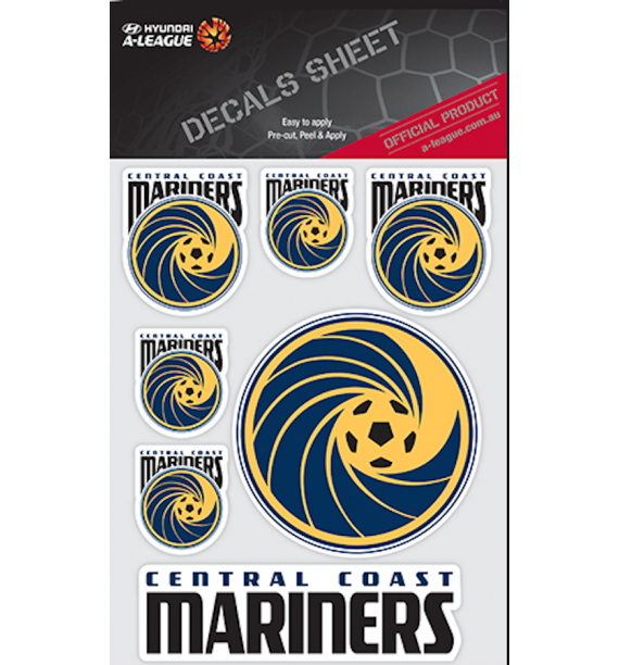Central Coast Mariners Decal Sheet