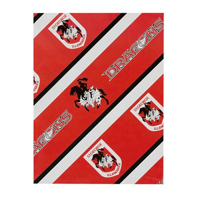 St George Illawarra Dragons Wrapping Paper