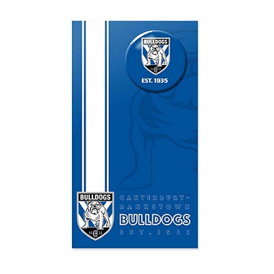 Canterbury Bulldogs Birthday Card + Badge