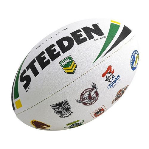 NRL All Logo Steeden Supporter Football - Small