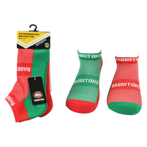 South Sydney Rabbitohs Ankle Socks (2pk)