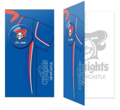 Newcastle Knights Birthday Card + Badge