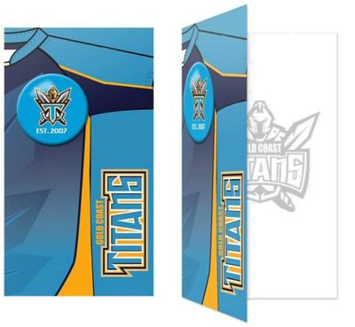 Gold Coast Titans Birthday Card + Badge