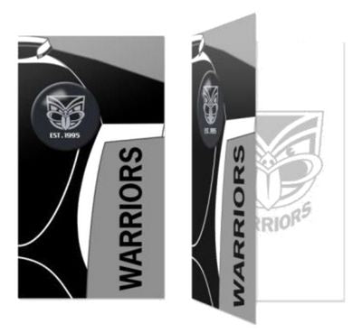 NZ Warriors Birthday Card + Badge