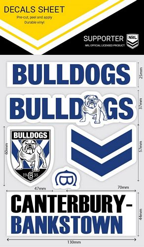 Canterbury Bulldogs Sticker Sheet - Wordmark