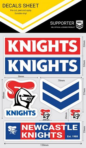 Newcastle Knights Sticker Sheet - Wordmark