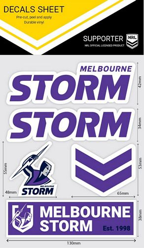 Melbourne Storm Sticker Sheet - Wordmark