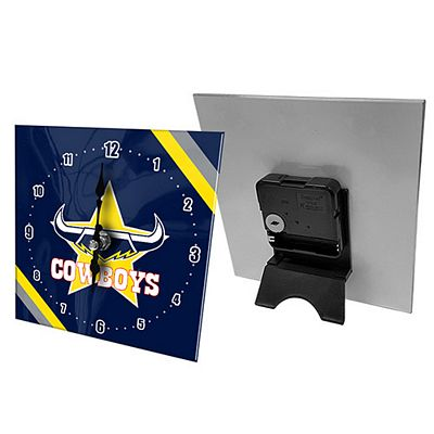 North Queensland Cowboys Mini Glass Clock