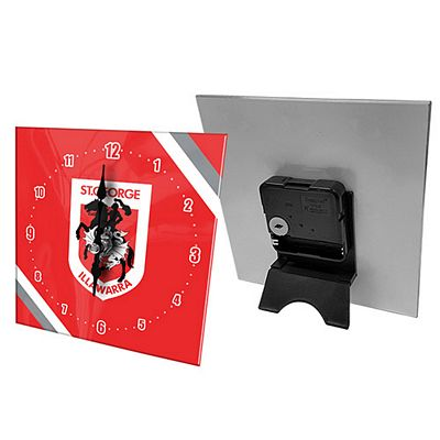 St George Illawarra Dragons Mini Glass Clock