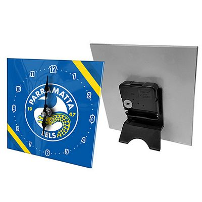 Parramatta Eels Mini Glass Clock
