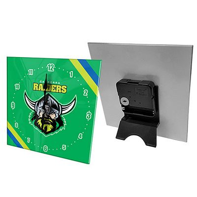 Canberra Raiders Mini Glass Clock