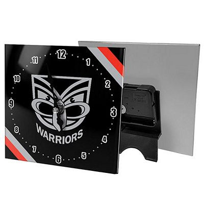 NZ Warriors Mini Glass Clock