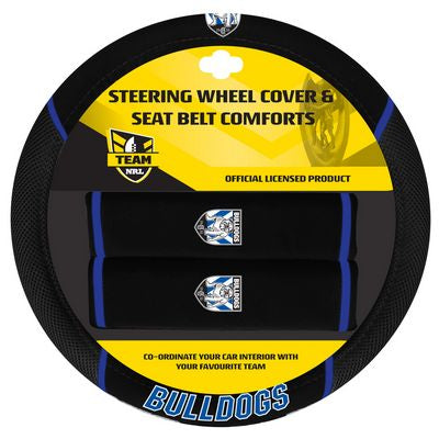 Canterbury Bulldogs Car Steering Wheel Set
