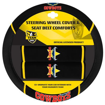 North Queensland Cowboys Car Steering Wheel Set