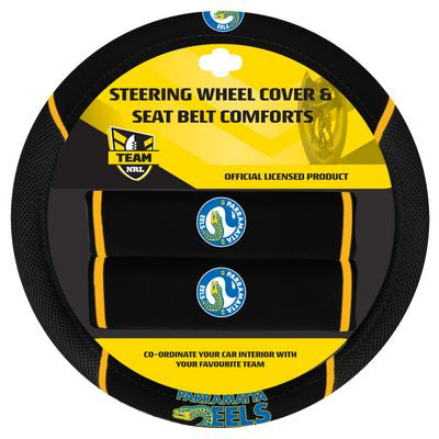 Parramatta Eels Car Steering Wheel Set