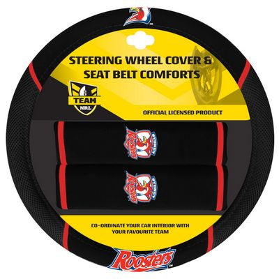 Sydney Roosters Car Steering Wheel Set