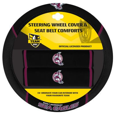 Manly Sea Eagles Car Steering Wheel Set