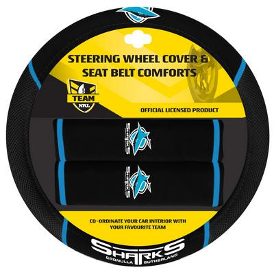 Cronulla Sharks Car Steering Wheel Set