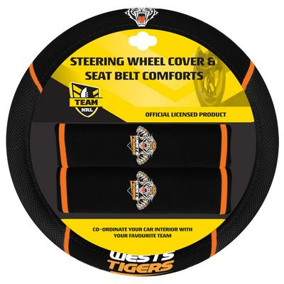 Wests Tigers Car Steering Wheel Set