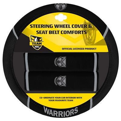 NZ Warriors Car Steering Wheel Set