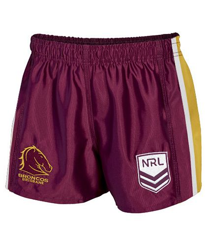 Brisbane Broncos Mens Replica Player Shorts