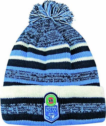 NSW Blues Beanie - Pom Pom