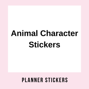 Animal Character Stickers
