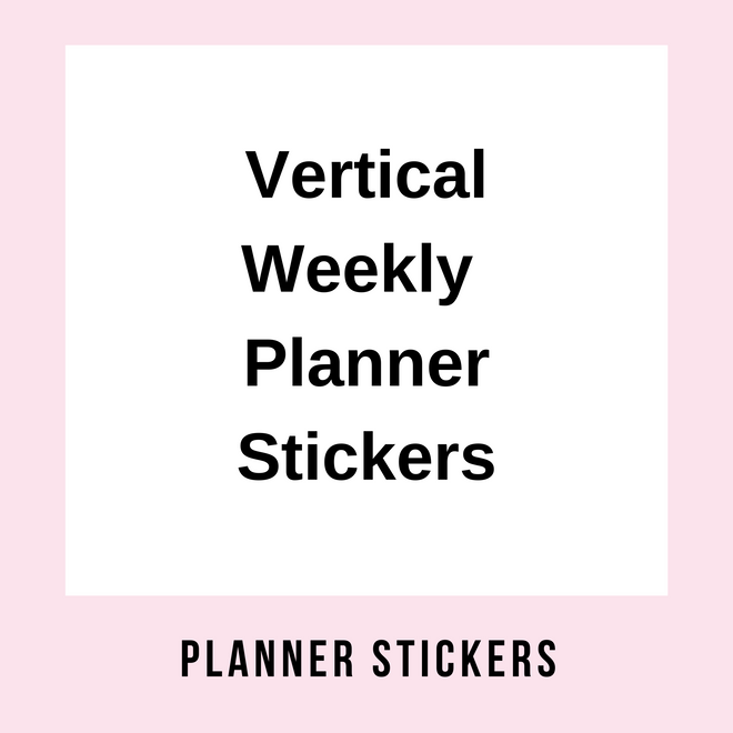 Horizontal Weekly Planner Kits