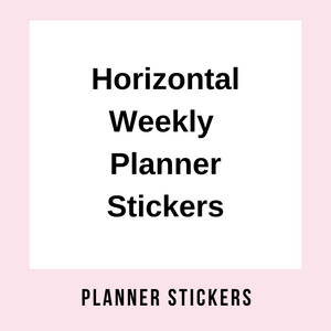 EC & HP Vertical Weekly Planner Kits