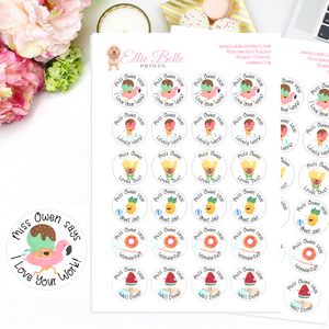 Summer Fun - Personalised Teacher Reward Stickers