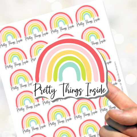 Pretty Things Inside Stickers - Rainbow