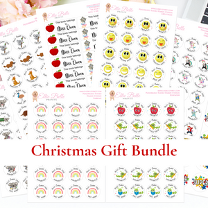 Christmas Gift Bundle -  Personalised Teacher Reward Stickers