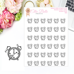 Alarm Clock Icons - Doodle Heart Icons
