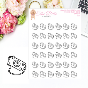 Camera Icons - Doodle Heart Icons