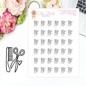 Hair Appointment Icons - Doodle Heart Icons