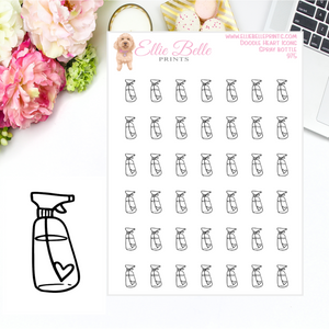 Spray Bottle Icons - Doodle Heart Icons